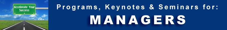 Managerial -  Programs Seminars Keynotes