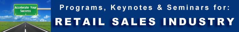 Sales & Retail -  Programs Seminars Keynotes